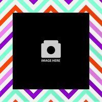 cadre photo de scrapbooking motif zigzag coloré
