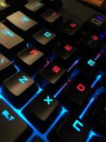 Close-up view of a computer keyboard