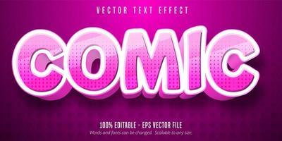 Dotted pink comic cartoon style editable text effect