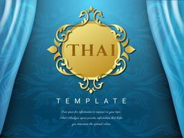 Blue Thai traditional background vector