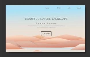 montaña y viaje página de paisaje minimalista. vector