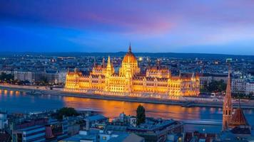 Budapest downtown skyline in Hungary photo