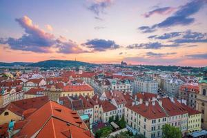 Prague city skyline