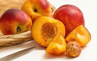 Nectarine fruits on table