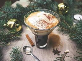 bebida de canela de natal