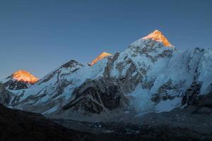 Mount Everest in snow photo