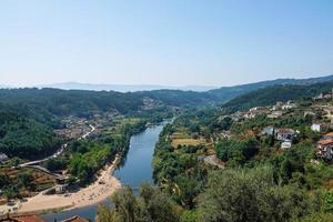 View of the Mondego River in Penacova, Portugal