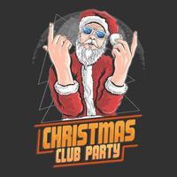 diseño de la fiesta del club de navidad de santa claus