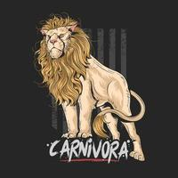 Mighty carnivorous lion vector