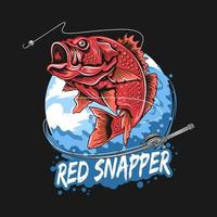 Red snapper fishing season design vector