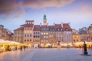 Old town square in Warsaw Poland