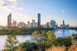 de skyline van de stad Brisbane