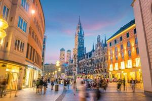Munich skyline with Marienplatz Town Hall