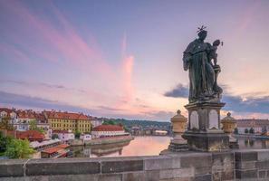 Prague city skyline