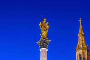 Famous golden Angel of Peace statue in Munich