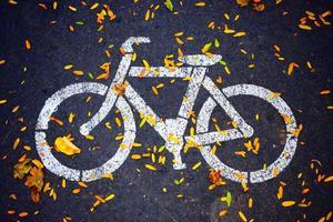 señal de carretera de bicicleta