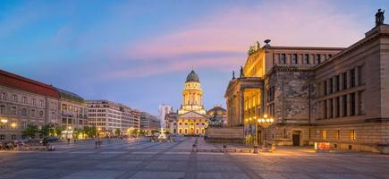 Gendarmenmarkt square at sunset in Berlin