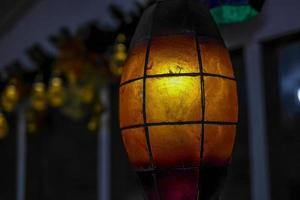 Amber colored lamp