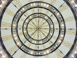 Gold metal chandelier