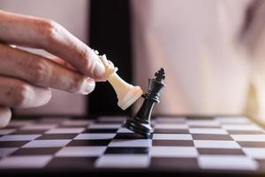 Close-up of a checkmate