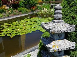 Stone lantern in the garden