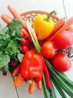vegetais frescos e saudáveis foto