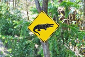 Hand painted warning sign