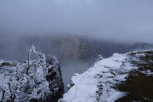 Winter landscape at Cruix du Van