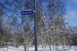Birkenhain sign in winter