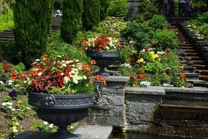 Flower garden on Mainau Island