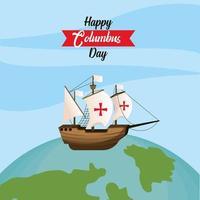 Columbus day greeting card