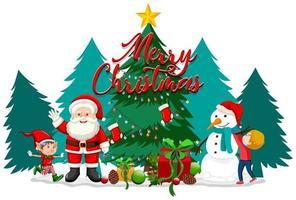 tema navideño con santa y muñeco de nieve