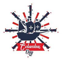 Columbus day banner