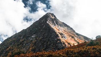 Orange and gray mountain photo