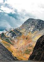 Autumn colored mountains
