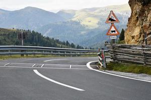 Mountain roadway in Austria