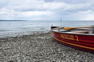 barco, viaje, lago de Constanza, agua, rescate, preparación foto