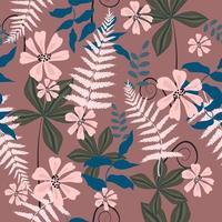 Charming flower pattern vector