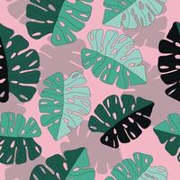 Abstract hand drawn fern leaf pattern vector