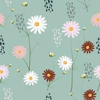 Pastel colored small flowers pattern vector