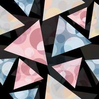 Abstract geometric pattern with triangles and circles vector