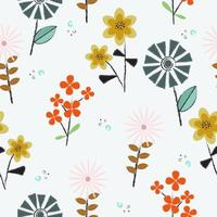 Small fresh flowers pattern vector