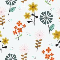 patrón de pequeñas flores frescas vector