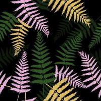 Colorful fern leaves pattern  vector