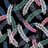 Colorful leaves abstract pattern  vector