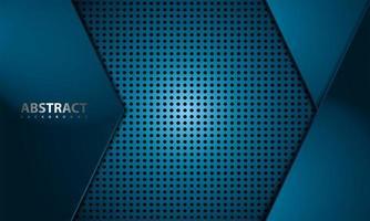 diseño de fibra de carbono azul vector