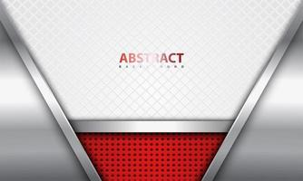 Realistic Steel and Red Design with Fencing Wire Pattern vector