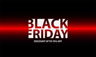 Black Friday Poster with Modern Style vector