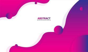 Abstract Wavy Purple Gradient Geometric Elements vector