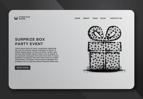 Web page template of a gift box vector